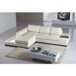 T35 Mini Modern White Leather Sectional Sofa Outdoor Set With Storage Sofas