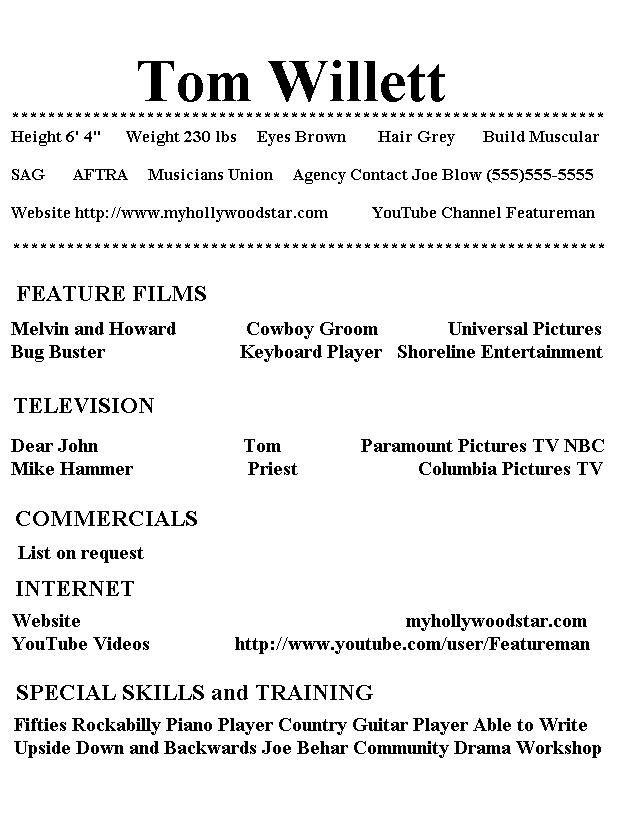 High School Acting Resume Template Resumecareer Info