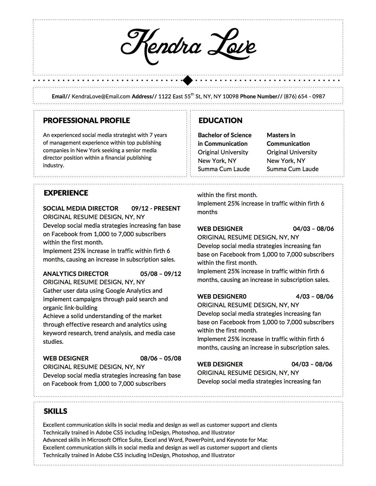 fancy resume template microsoft word