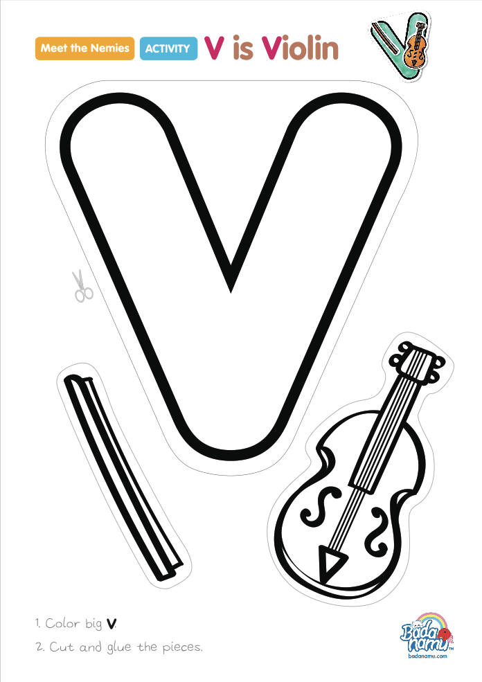 'V is Violin' craft! A whole craft series to go with our