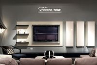 modern TV wall units with vertical and horizontal shelves ...