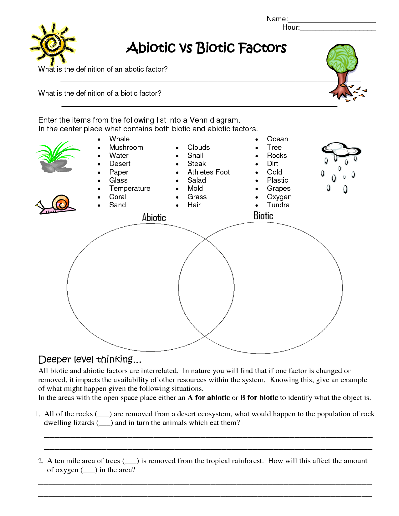 Worksheet Trophic Levels Worksheet Worksheet Fun
