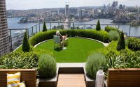 Slope Garden Ideas City Landscape Top View From Rooftop ...