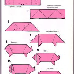 Dollar Origami Pig Diagram Ford 8n 12v Conversion Wiring Very Simple Instructions 1 Papes Pinterest
