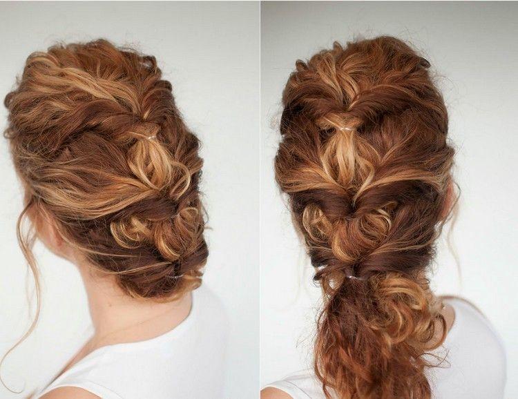 Frisur Für Den Alltag Oder Festliche Anlässe Haare Pinterest