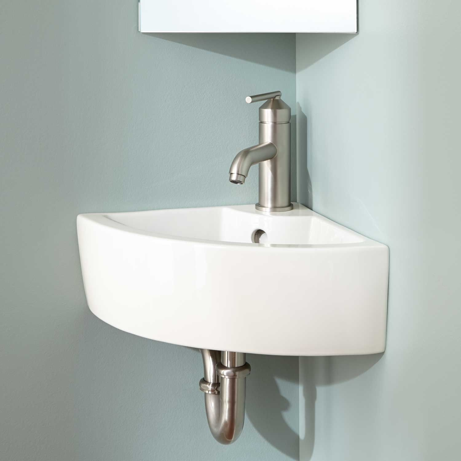 Amelda WallMount Corner Bathroom Sink  monroe 2