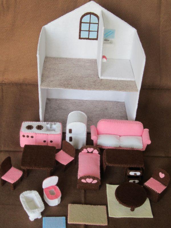 Felt Dollhouse Furniture Feltro