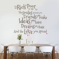 You Are Rich Or Poor - Wall Decal Quote Sticker lounge ...
