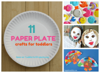11 Fun Paper Plate Crafts for Toddlers | Toddler art ...