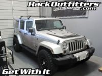 Jeep Wrangler Unlimited Thule Gutter Foot Square Bar Roof ...