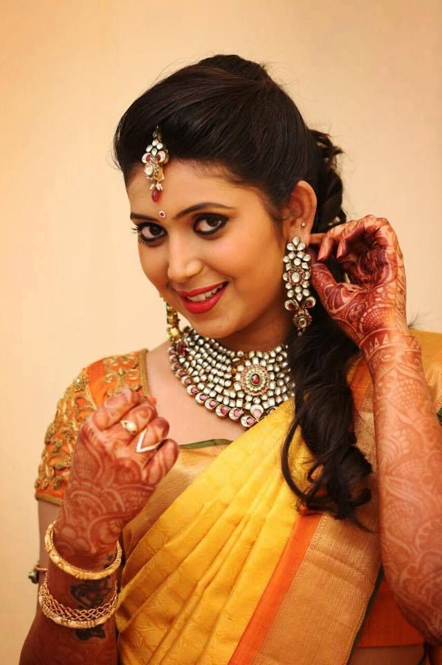 South Indian Bridal Front Hairstyles #SouthIndian #BridalHairstyle