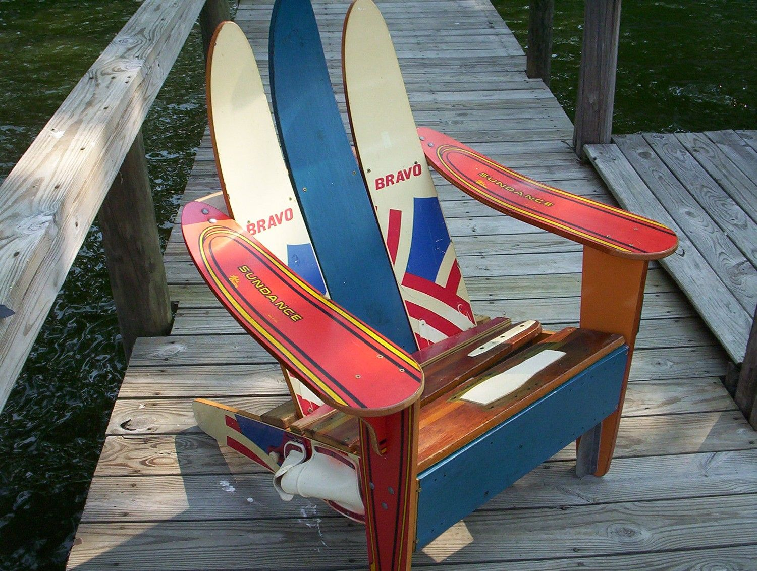What a cool chair Would be great on the end of the dock