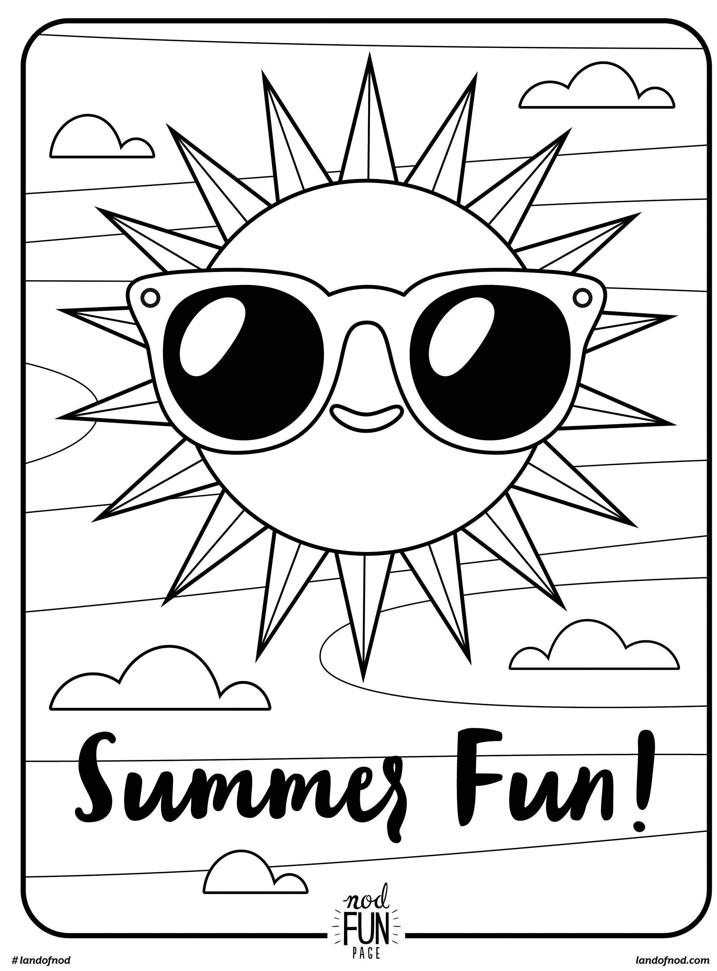 Free Printable Coloring Page Summer Fun