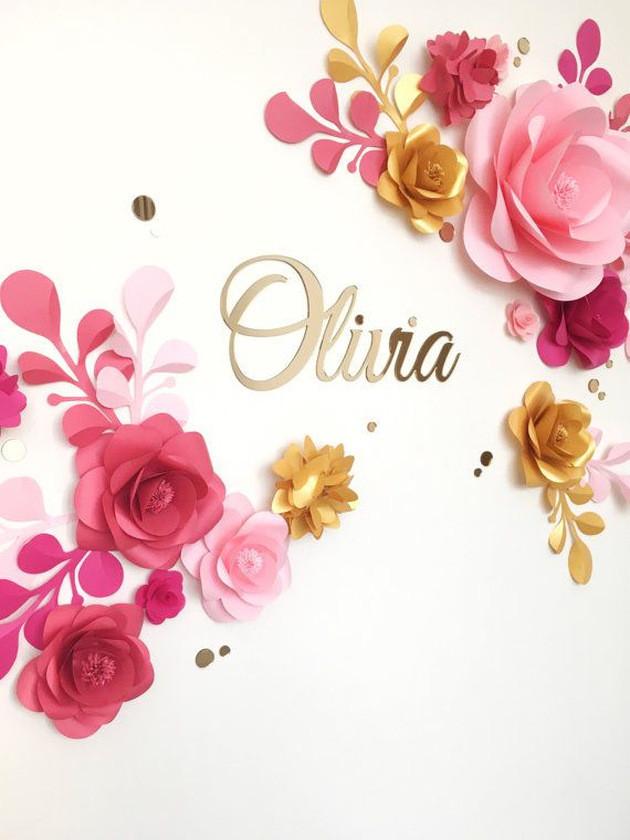 Nursery paper flowers over the cribs hanging flower wall decor also rh pinterest