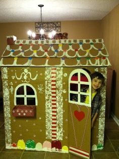 How To Make A Cardboard Gingerbread House Life Size Google