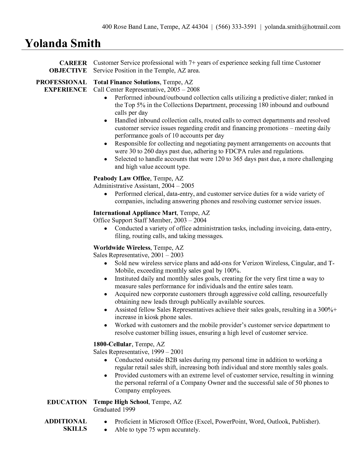 Traffic Customer Resume Examples Customer Service Resume Examples
