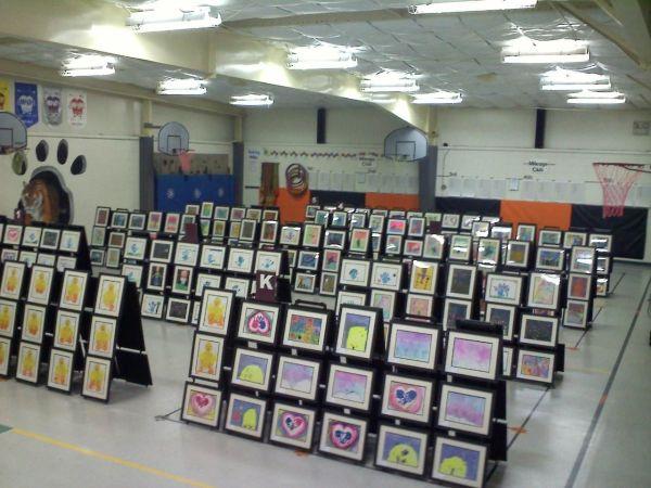 Elementary School Art Show Ideas
