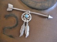 Industrial Barbell 16g 14g Earring Arrow Industrial ...