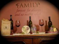 Wine themed dining room