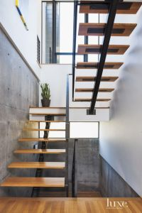 Modern White-Oak and Steel Staircase | Luxe | Halls ...
