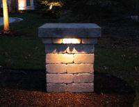 driveway pillar lighting - Google Search | garden ...