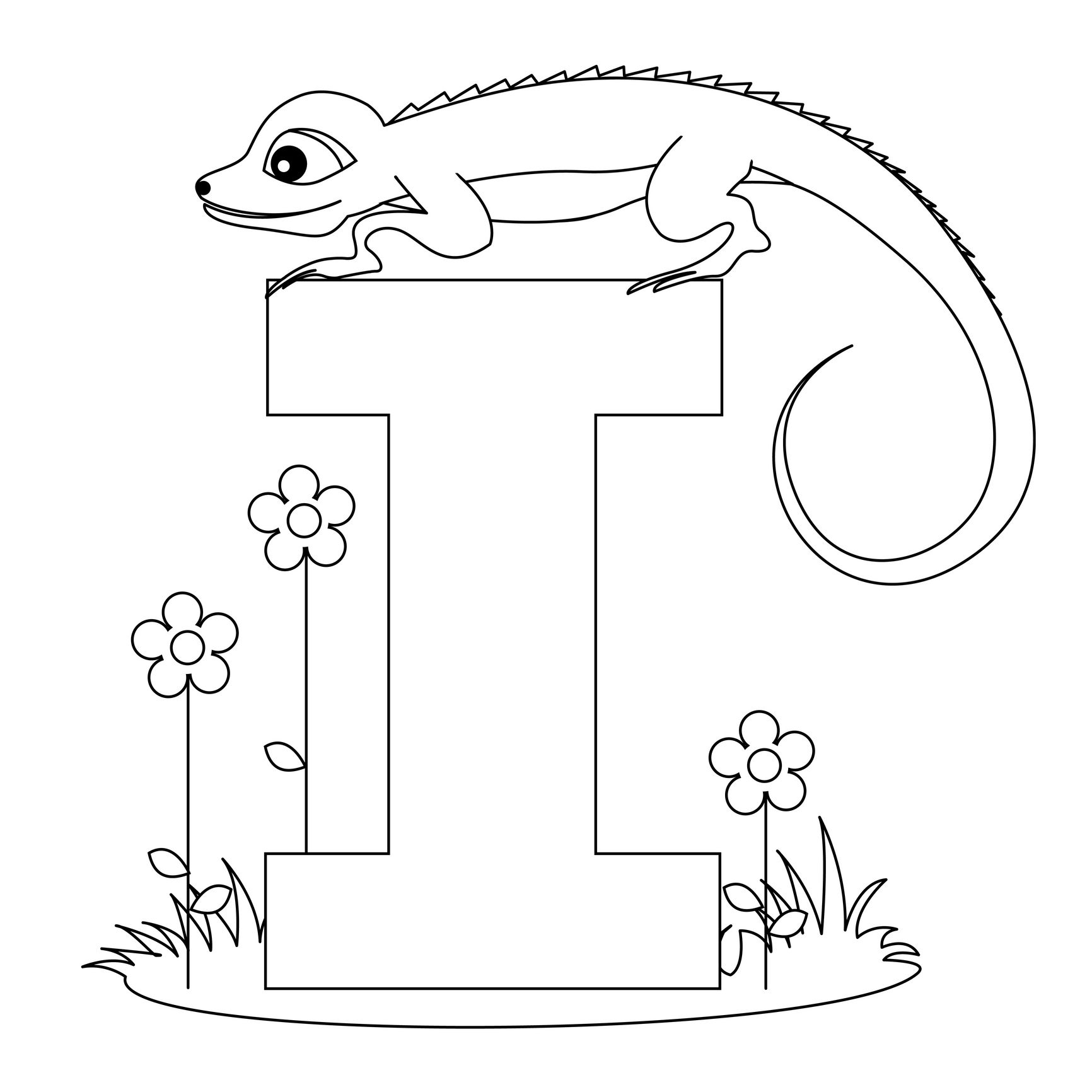 Image Detail For Animal Alphabet Letter I Coloring