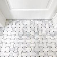 Bathroom mosaic floor tile