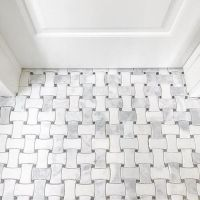 Bathroom mosaic floor tile - Hampton Delray Marble Mosaic ...