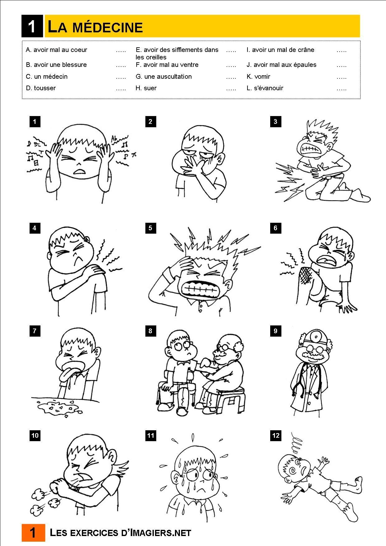 French Halloween Vocabulary Worksheet