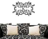 damask decal - lola decor - vinyl wall art - simple and ...
