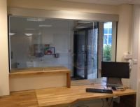 Reception Counter with 2013 Sliding Screen ... | Reception ...