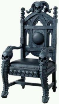 Skull chair | Home decor | Pinterest | Gothic interior ...