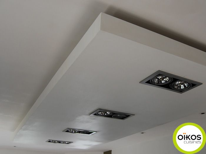 Plafonds De Cuisine Faux Plafond Avec Spots Alu