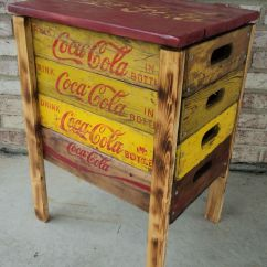 Coca Cola Chairs And Tables For Dining Room Corner Table Made From Reclaimed Beverage Crates
