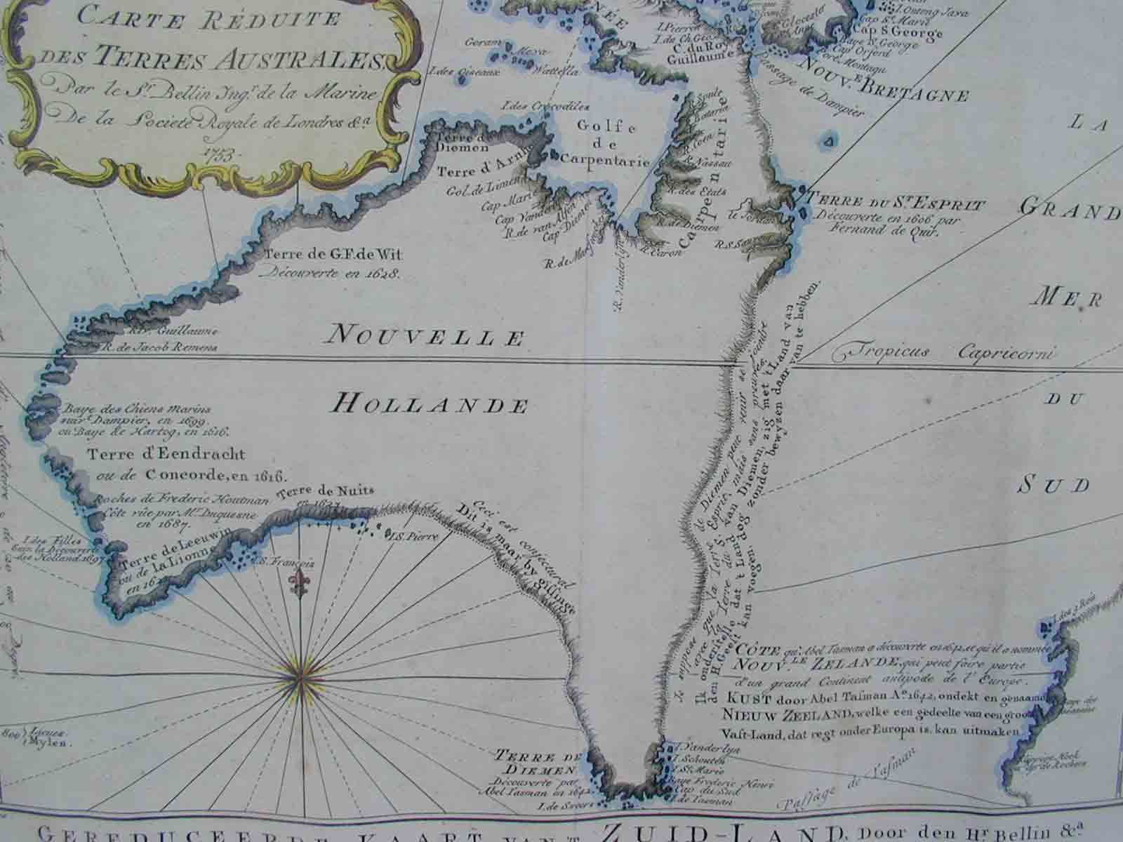 Captain Cook S Map Of Australia On Which He Landed With