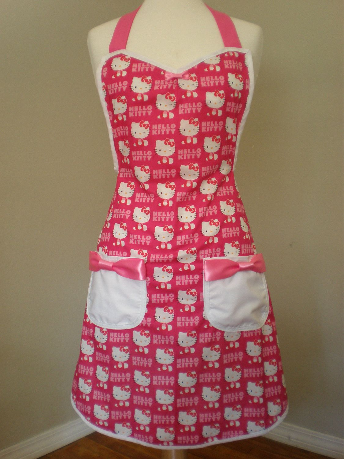 cute kitchen aprons sink 33 x 22 hello kitty apron by hautemessthreads on etsy geek