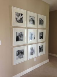 Black and white photo wall with Ikea frames ...