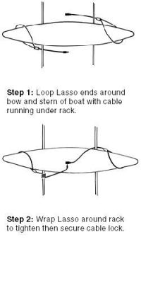 canoe roof rack | lasso security systems kayak rack canoe ...