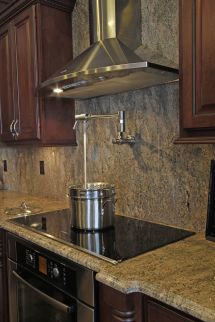 Electric Stove With Wall Mounted Pot Filler