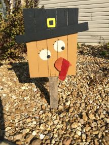 Turkey With Pallet Wood Handpainted Diy