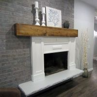 Grey Paint Wash On A Brick Fireplace: Before & After ...