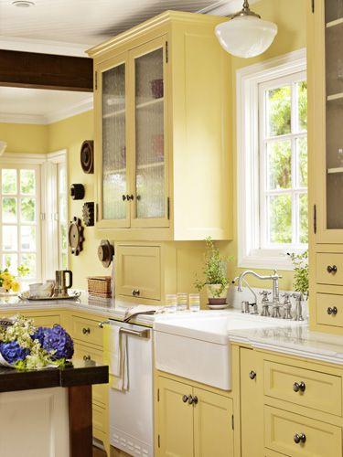 Yellow Kitchen Cabinets on Pinterest