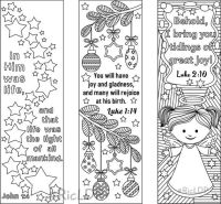 9 Christmas Coloring Bookmarks (6 designs with Bible ...