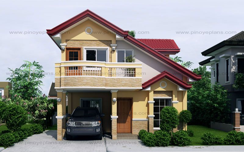 Sarah Dramatic Open To Below Two Storey House Pinoy EPlans