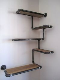 Pipe Wall Shelf with Reclaimed Wood Custom Pipe by ...