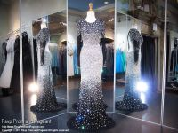 Black Blinged Out Cut Outs Prom Dress Iridescent Stones ...
