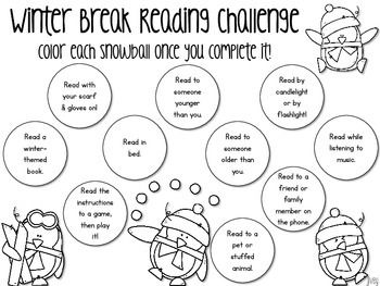 Reading Challenge for Winter Break and... by ideas by