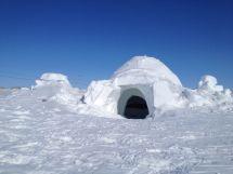 Eskimo Igloo House Inside