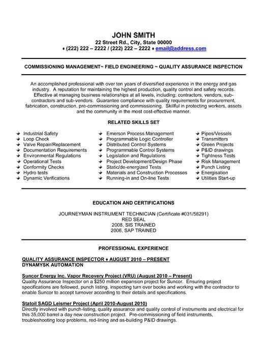 Qa Resume Template Unforgettable Quality Assurance Resume