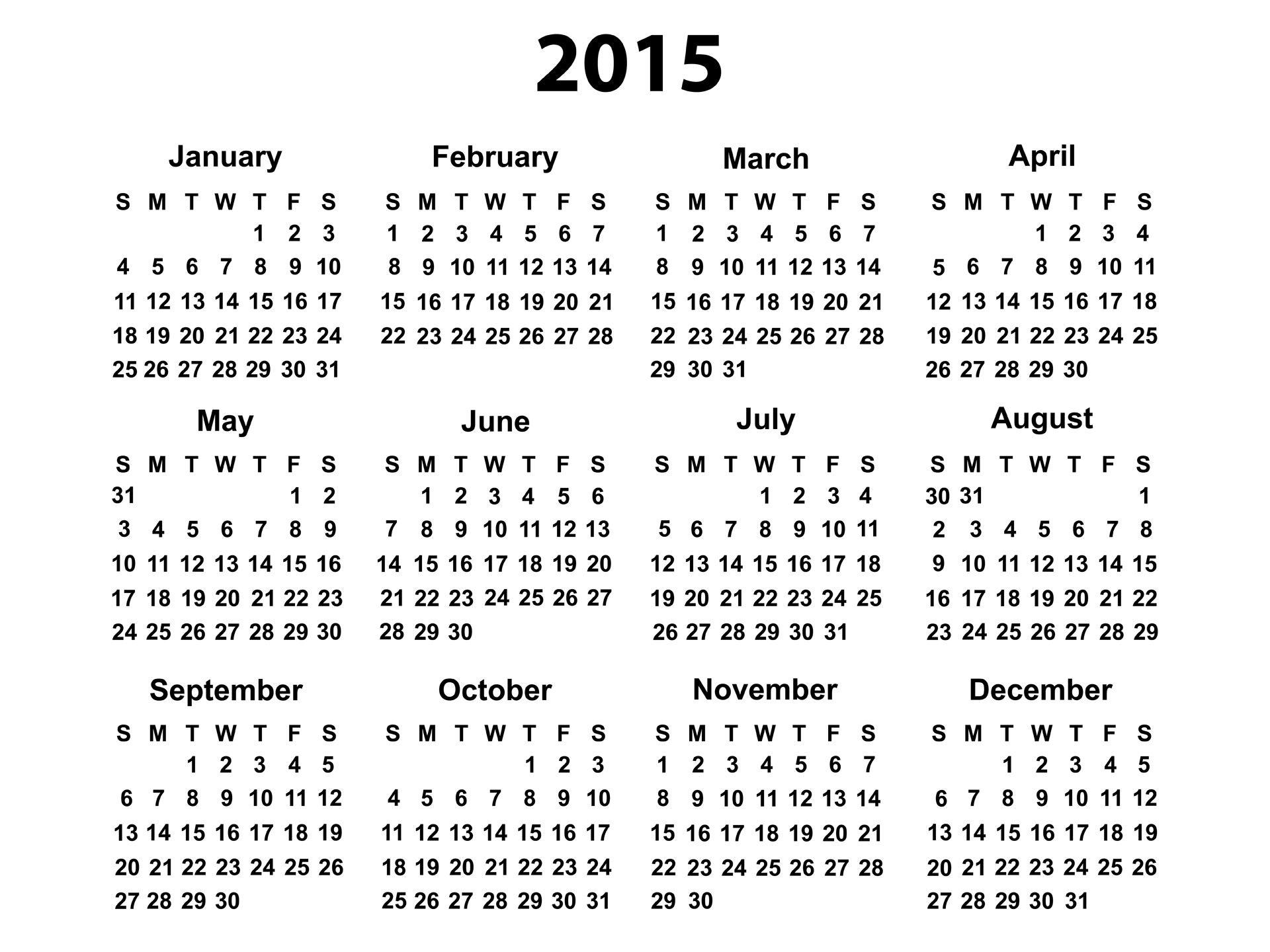Free Printable Calendar Year